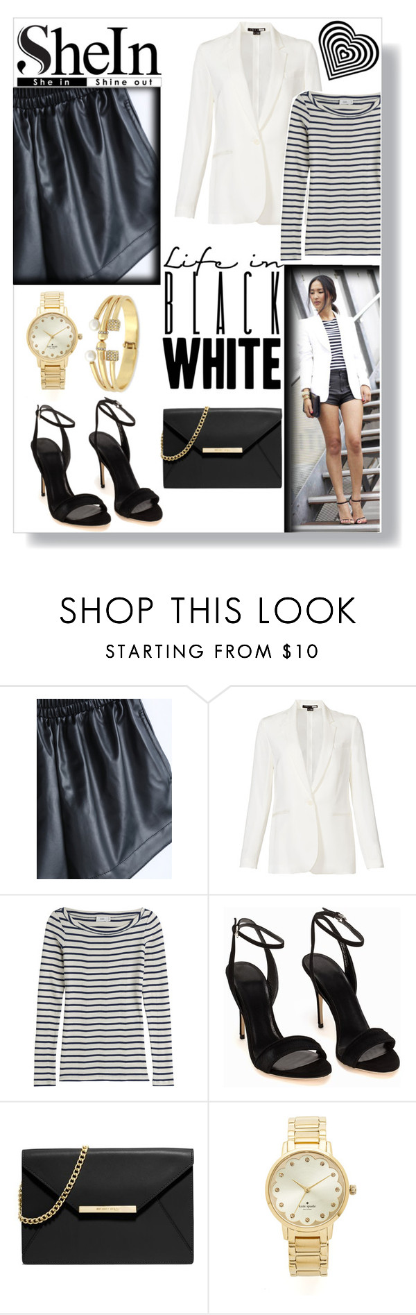 """""""Black and white"""" by imajaa ❤ liked on Polyvore featuring Theory, Closed, Polo Ralph Lauren, MICHAEL Michael Kors, Kate Spade, BCBGeneration, women's clothing, women, female and woman"""