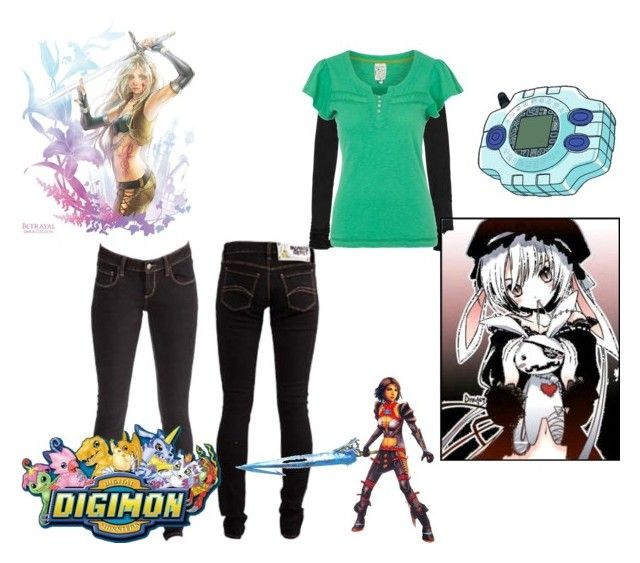 """digimon"" by wwefuturedivataytay ❤ liked on Polyvore featuring Monkee Genes, American Vintage, Mantaray and S.W.O.R.D."
