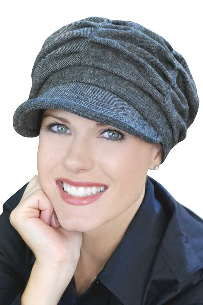 Hats for Cancer Patients  Gathered Newsboy Chemo Hat 8776ed29525