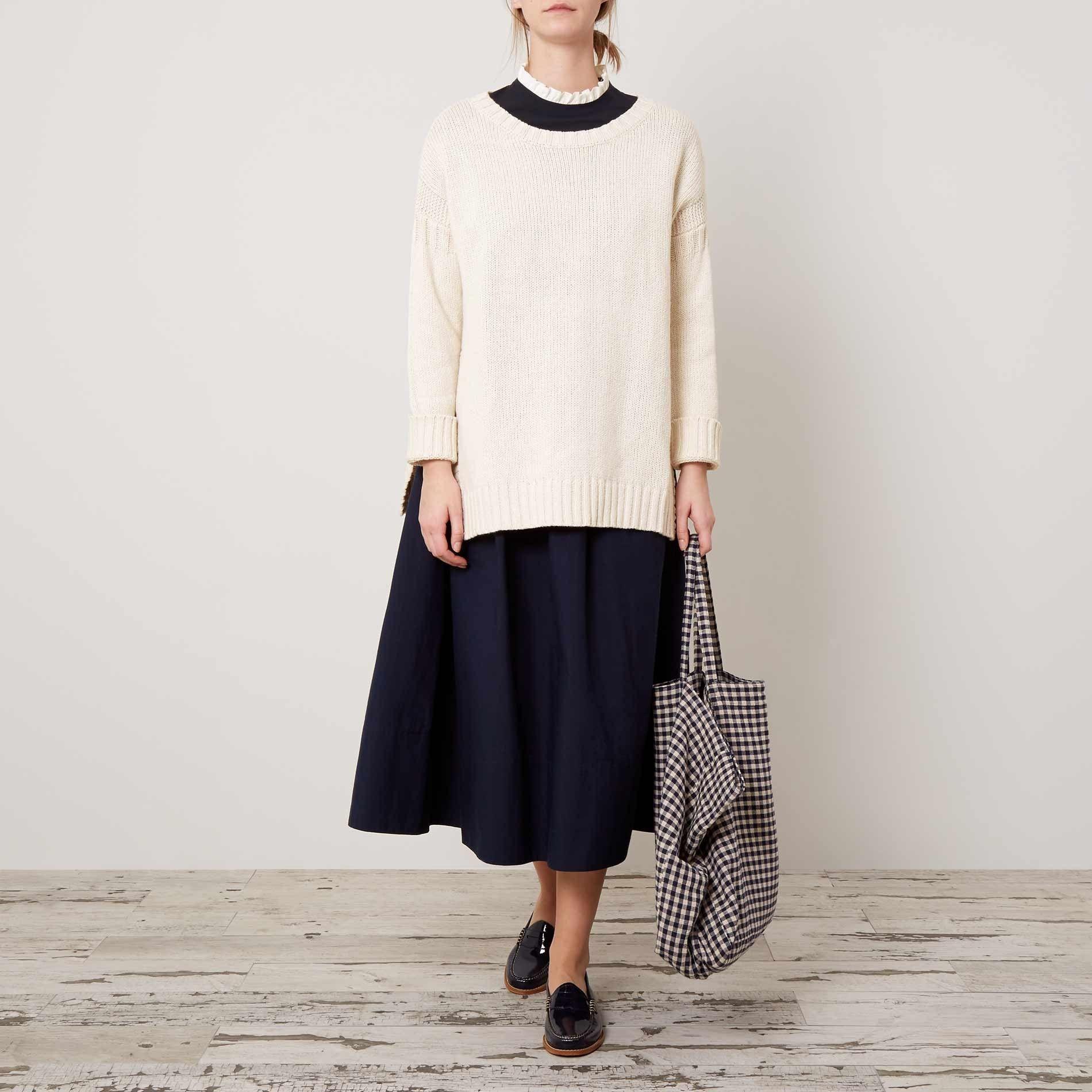 Warm White Netty Sweater | Knitting Inspiration | Pinterest