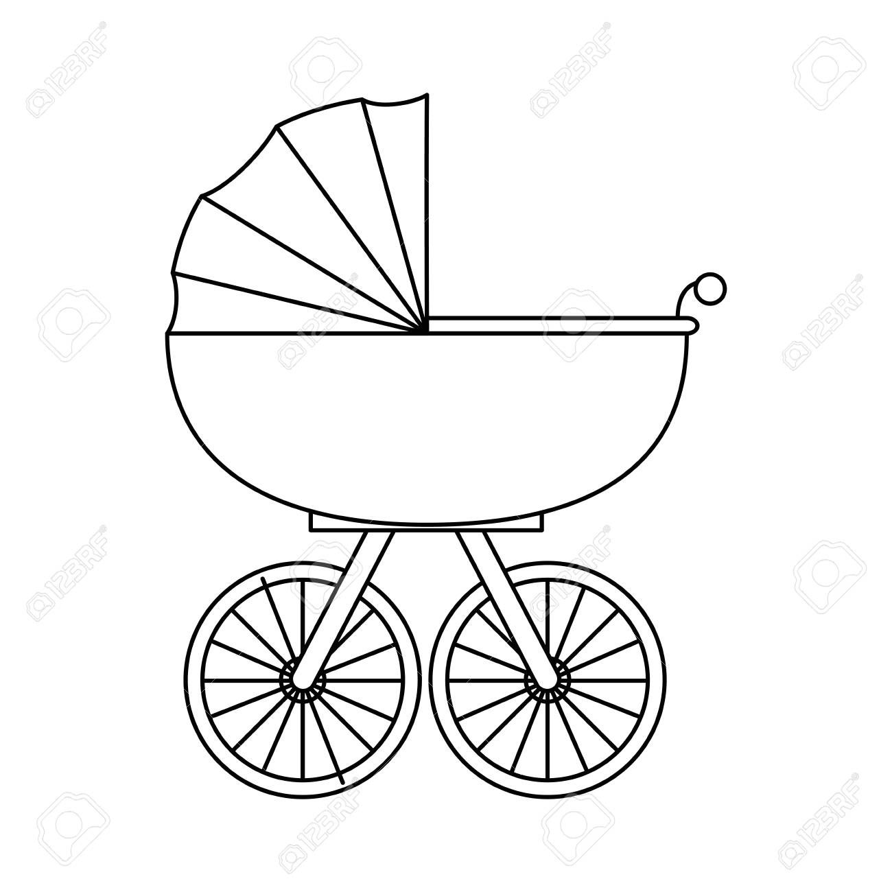 Baby Carriage Icon Over White Background Vector Illustration Sponsored Icon Carriage Ba Background Vector Illustration Social Media Logos Logo Graphic