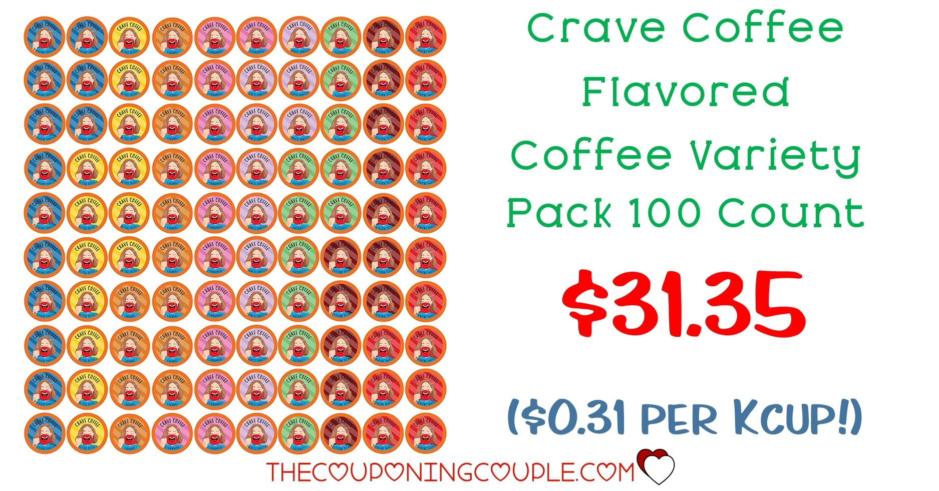 Crave coffee flavored coffee variety pack 100ct 3135 0