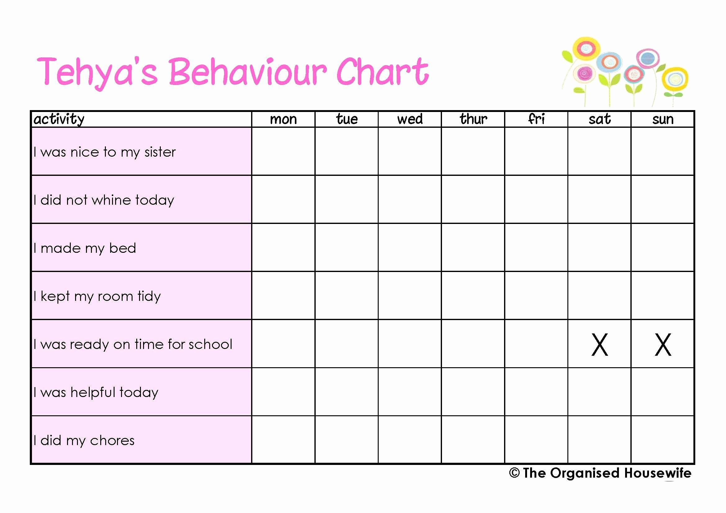 30 Behavior Charts For Home In