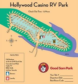 Hollywood Rv Site Map With Images Hollywood Casino Hollywood Rv Parks