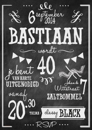 Uitnodiging Tekst Verjaardag 40 Jaar