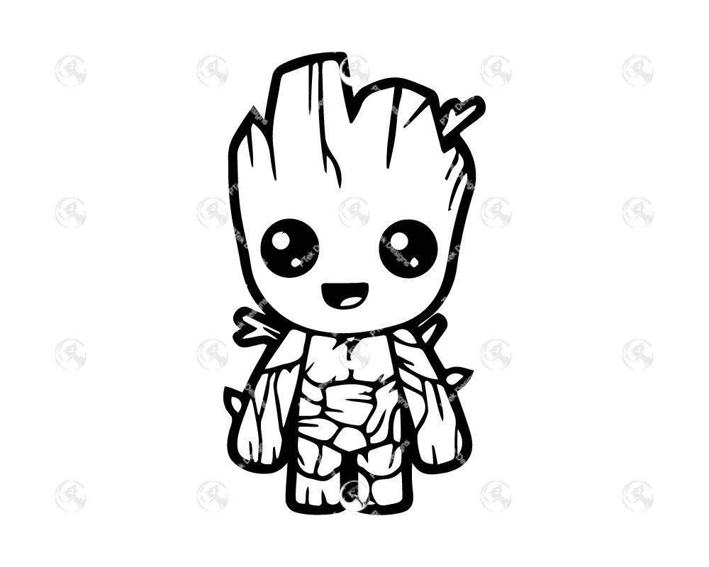 Baby Groot Etsy In 2020 Baby Groot Baby Groot Tattoo Groot Tattoo
