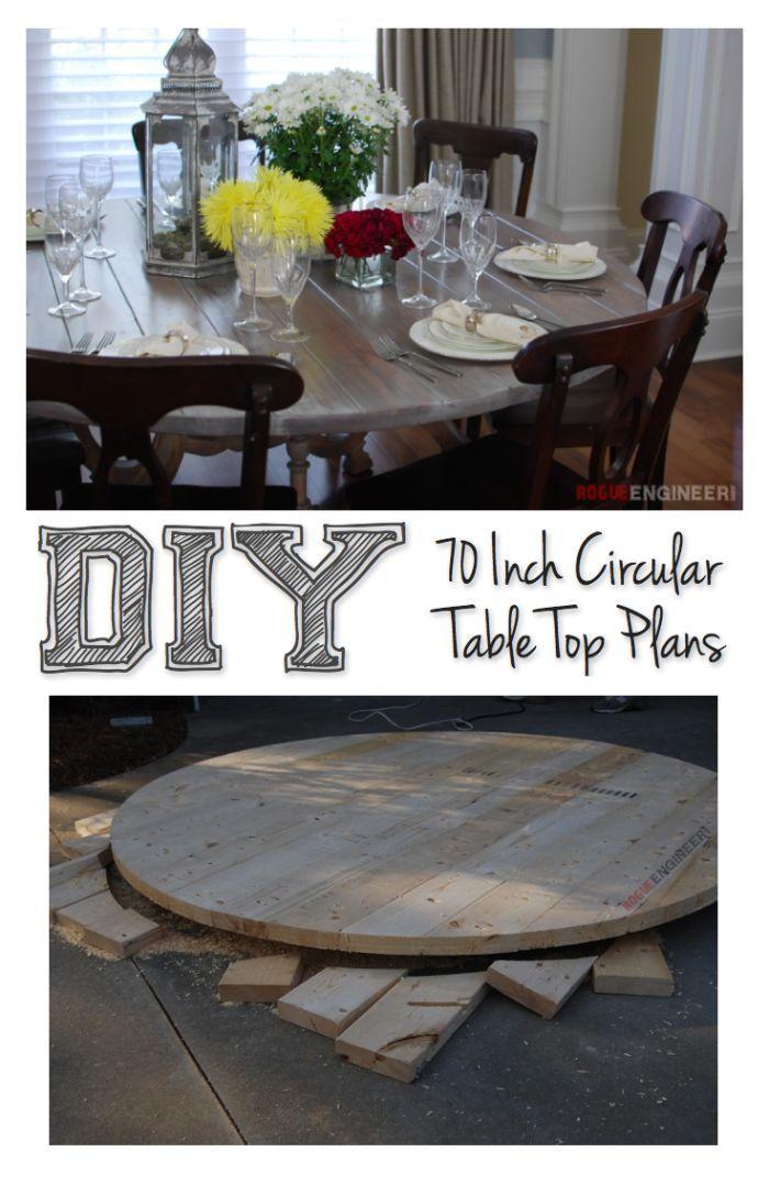 Nice 70 Inch Round Table Top | DIY Tutorial | Rogueengineer.com #DIYseating  #diningroomDIYplans