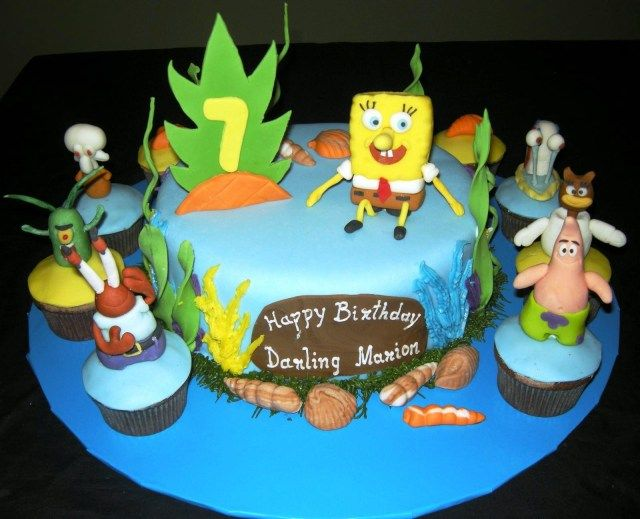 25 Wonderful Picture Of Walmart Birthday Cakes Kids Spongebob Squarepants For Protoblogr Design