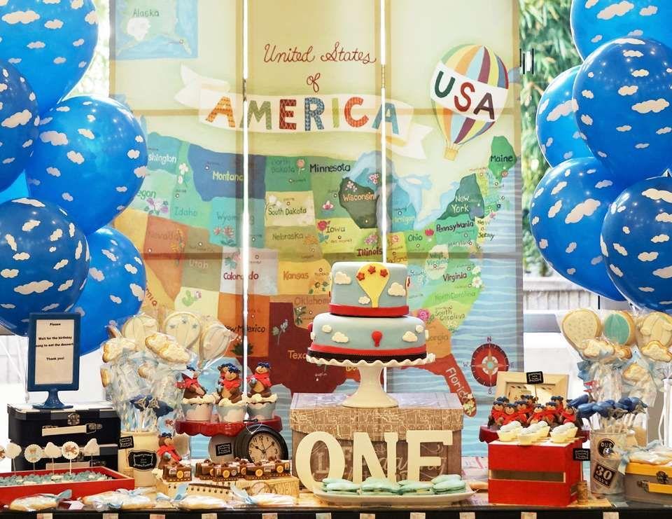 Aviator Bear Birthday Teddy Around The World
