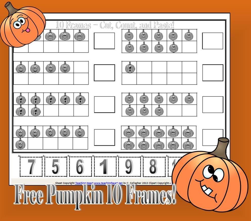 Pumpkin Packet For Preschool And Kindergarten  Ten Frames Math