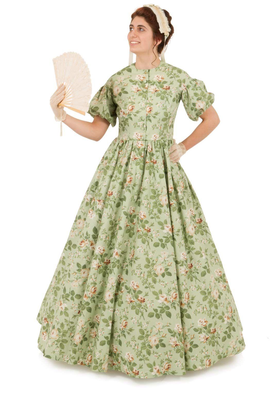 Eulalie Civil War Style Print Dress Civil War Victorian Dress Printed Cotton Dress Print Dress [ 1528 x 1060 Pixel ]