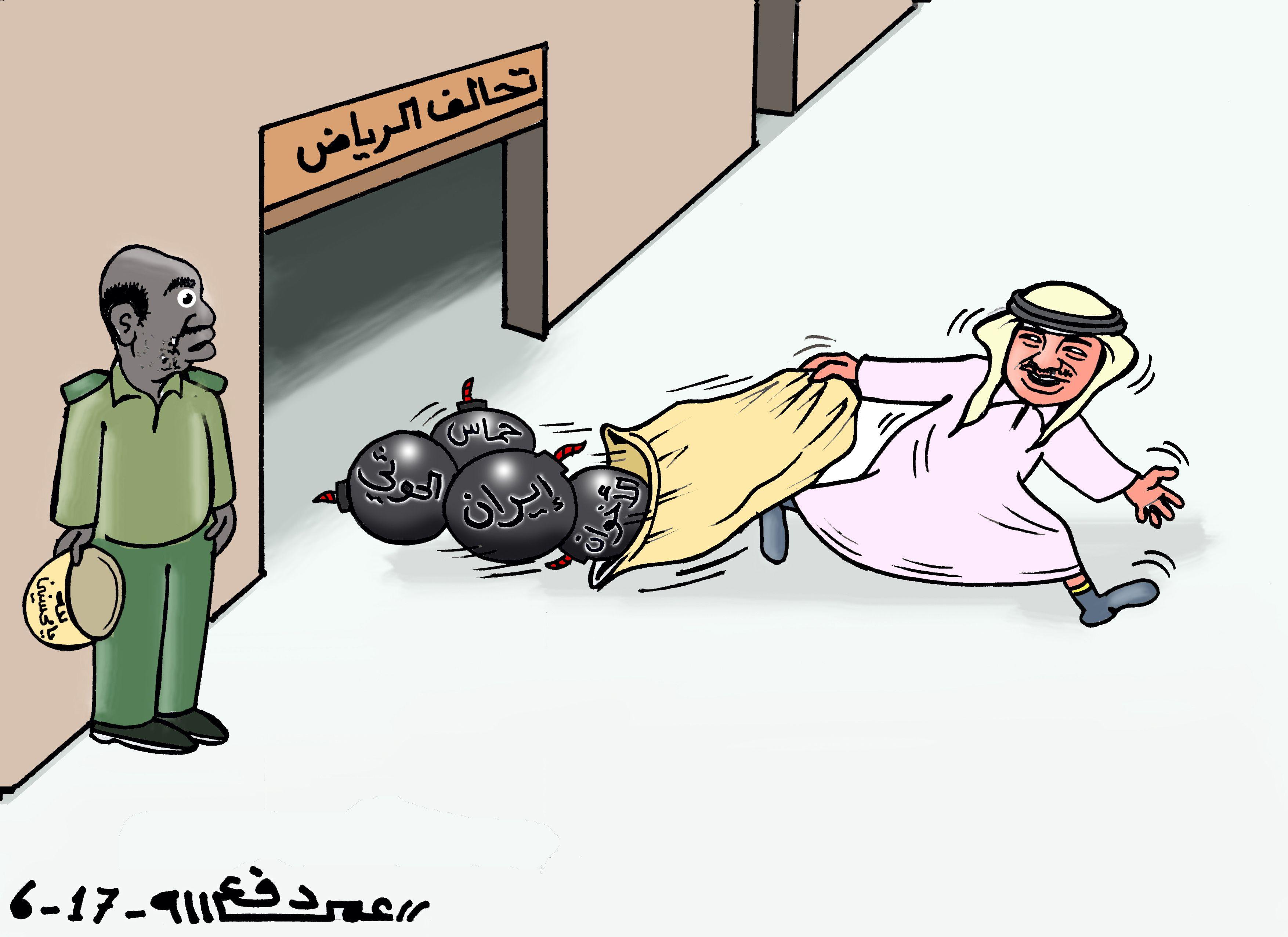 كاركاتير اليوم الموافق 05 يونيو 2017 للفنان عمر دفع الله عن السودان و الخلاف الخليجي