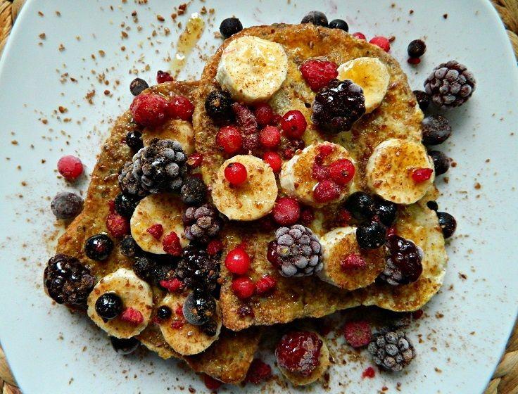 Vegan wholewheat cinnamon French toast