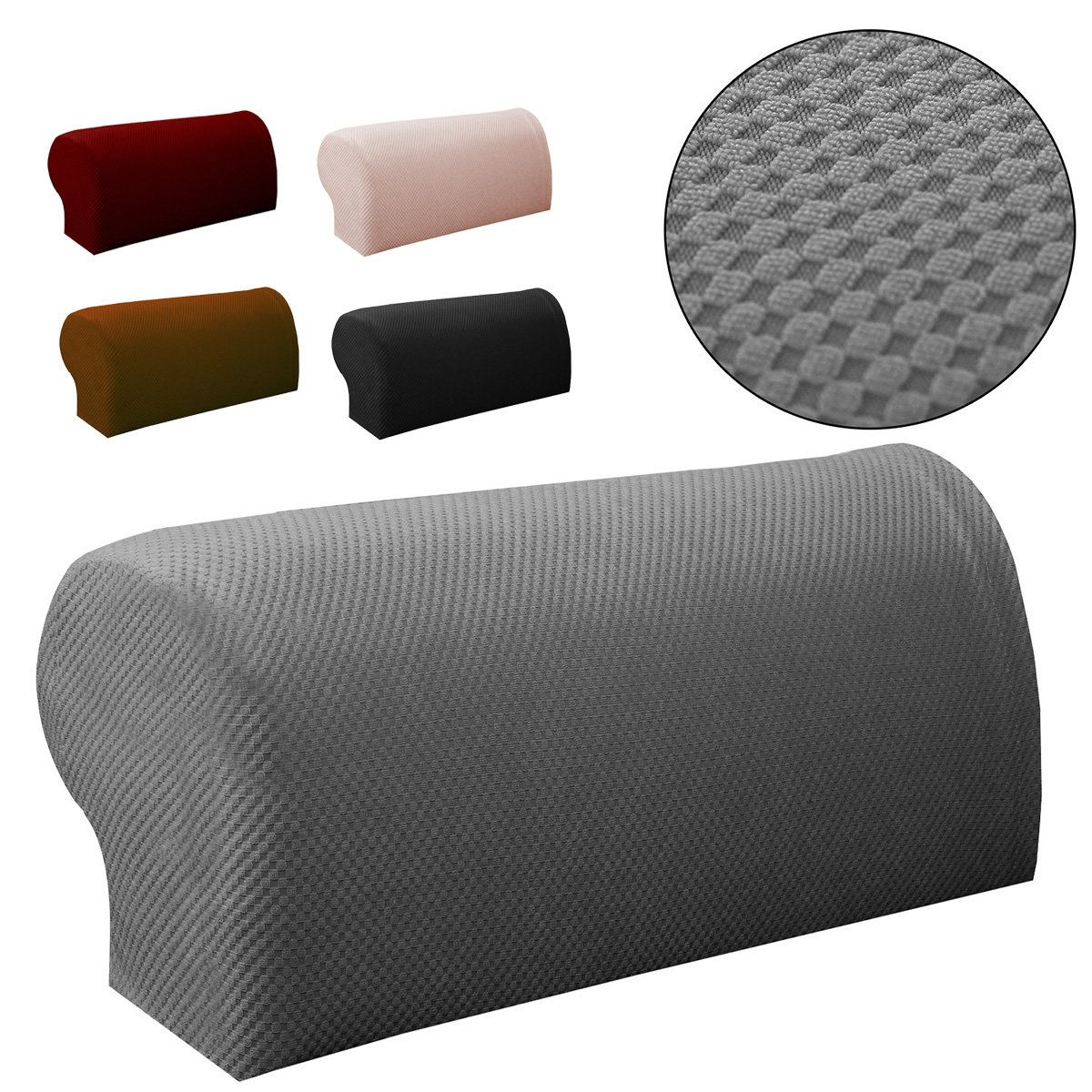 2pcs Premium Furniture Armrest Cover Sofa Couch Chair Arm Protectors Stretchy Couch Chair Sofa Covers Sofa Covers Online