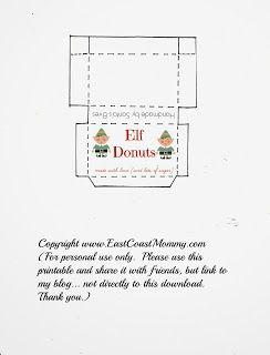 Elf On The Shelf Donuts Free Printable Box Christmas