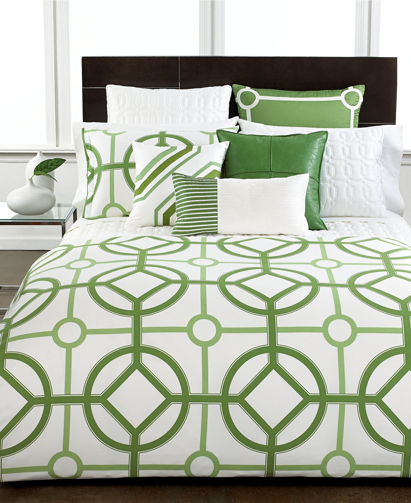 Hotel Collection Alabaster: CLOSEOUT! Hotel Collection Modern Trellis Bedding