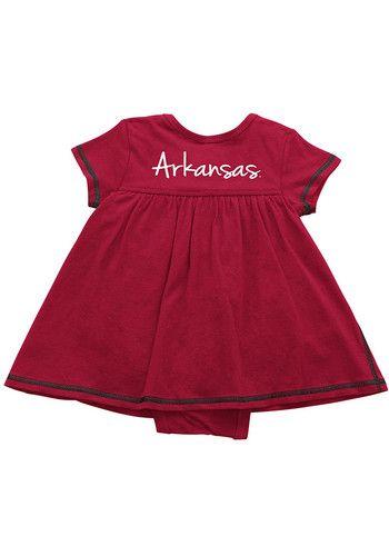 Colosseum Arkansas Razorbacks Baby Girls Cardinal Mac and