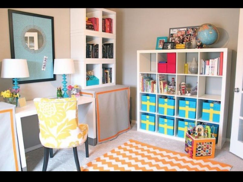 Office playroom combo awesome idea for small spaces l i for Office playroom