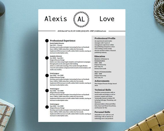 alexis love resume and cover letter by originalresumedesign