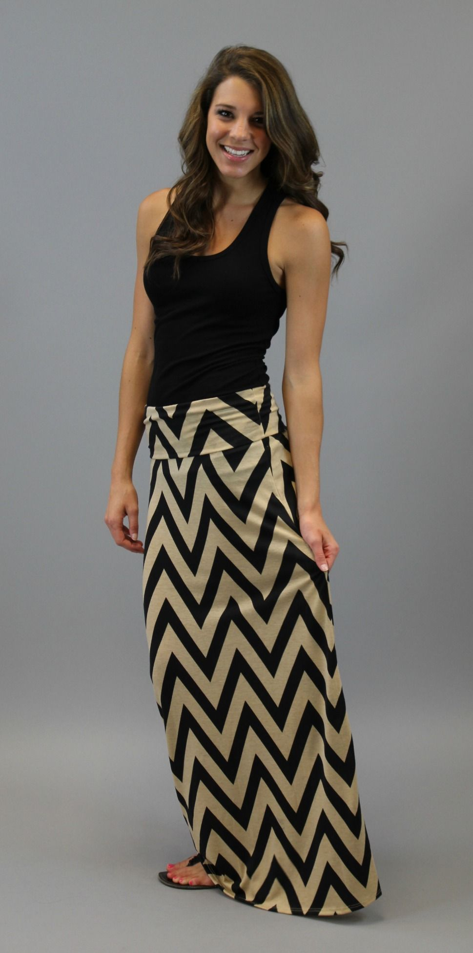 SOLID MAXI SKIRT Long Full Length High waist Fold over S M L XL ...
