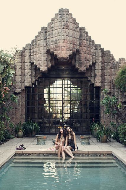 The Sowden House in Los Feliz by Frank Lloyd Wright.