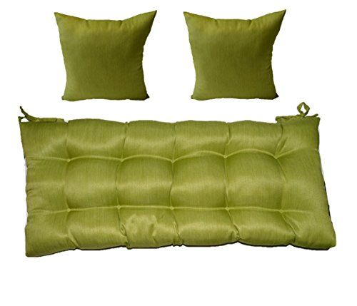 Woven Twill Mojo Kiwi Green Tufted Cushion For Bench Swing Or Glider Choose Select Size 2 Free 16 X Matching Pillows 48 20 Want Additional Info