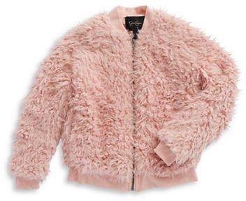 Jessica Simpson Girls 2-6x Faux Fur Zip-Up Jacket