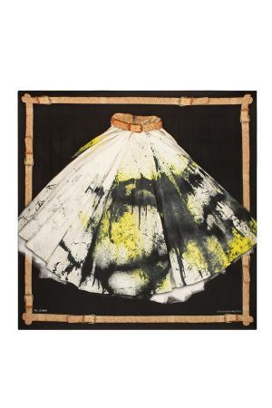 """Alexander McQueen has created a capsule collection of silk scarves to mark the launch of the designer's """"Savage Beauty"""" retrospective at the Victoria and Albert Museum"""