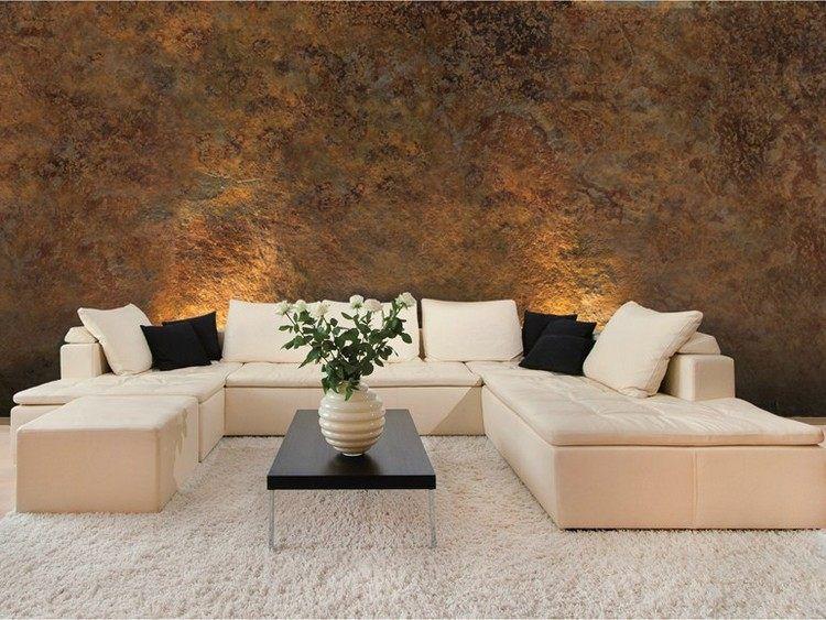 dekofarbe roxidan im antik-look und cremefarbenes sofa | wohnideen, Deko ideen