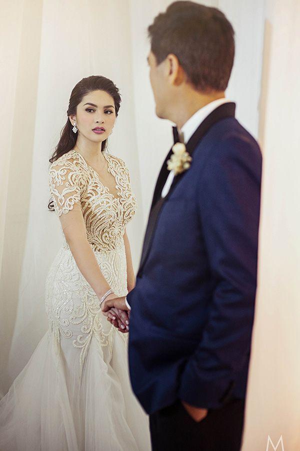 Celebrity Wedding Vic Sotto And Pauleen Luna Perfect Wedding Dress Ball Gown Wedding Dress Celebrity Weddings