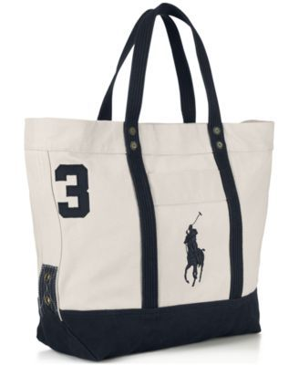 POLO RALPH LAUREN Polo Ralph Lauren Men s Big Pony Canvas Tote.   poloralphlauren  bags  hand bags  canvas  tote  cotton   fc197d8ab635d