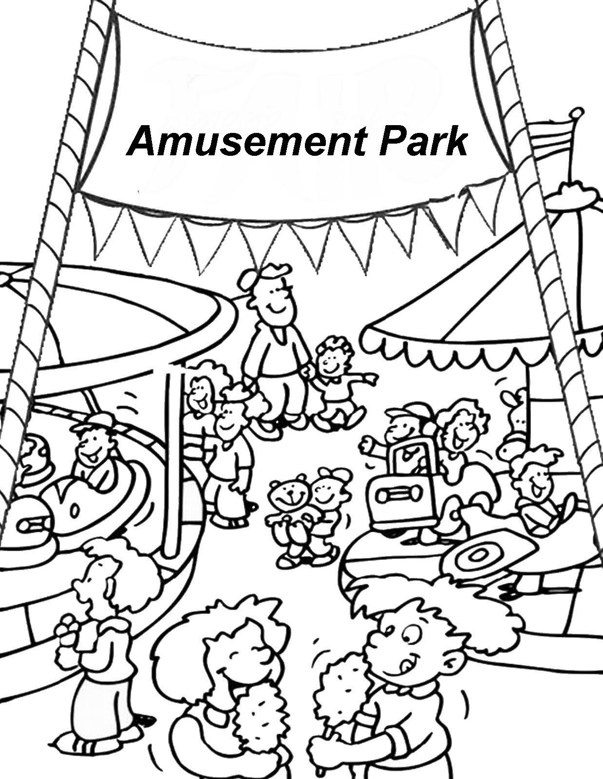 Amusement Park Coloring Pages Coloring Pages Toddler Coloring Book Cool Coloring Pages