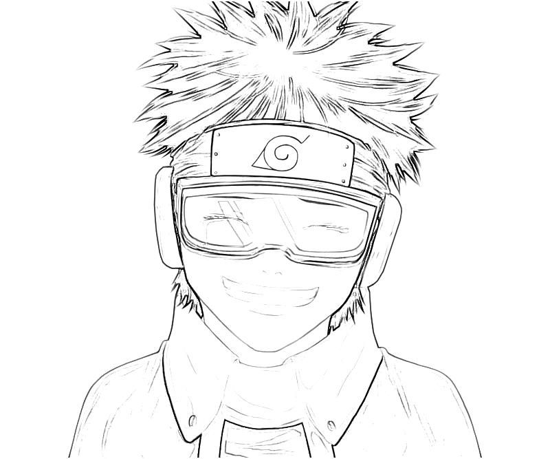 printable naruto obito uchiha smile coloring pages obito uchiha smile bw