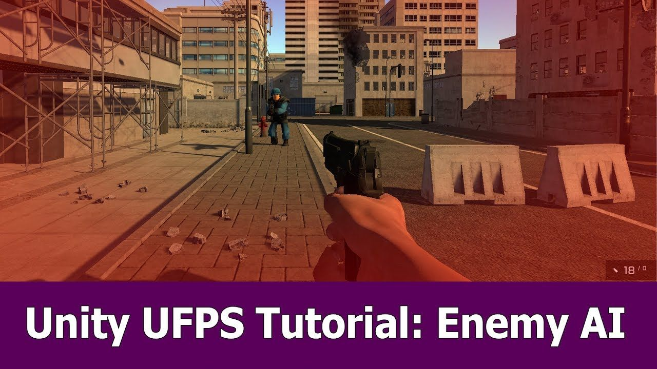 Unity FPS Tutorial Enemy AI : C# Script for UFPS | Unity in 2019