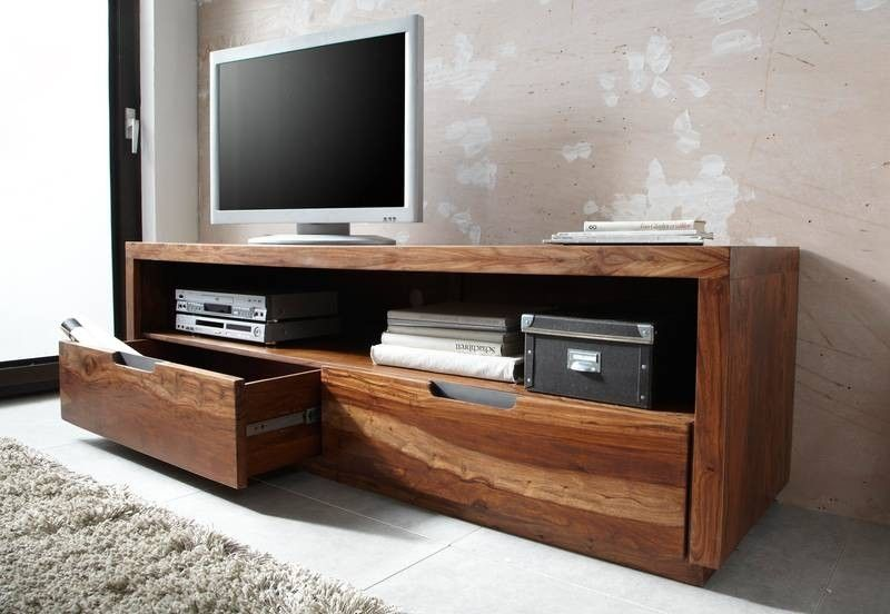 Tv Board Sheesham 175x50x55 Walnuss Lackiert Duke 114 Living Loft
