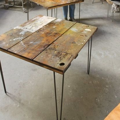 Reclaimed Wood Workbench Small Kitchen Dining By Realwoodworks1