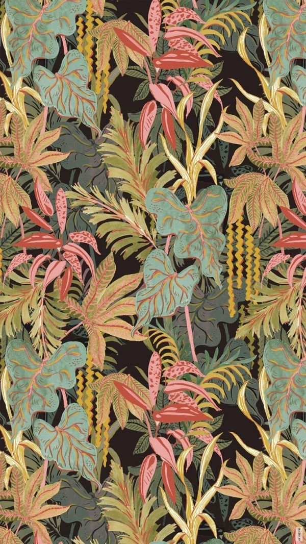 Night jungle pattern - irina muñoz clares | fashion graphics + illustration by mercedes #tropicalpattern