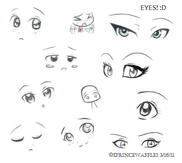 Tutorial Eyes Type Design Thank You Others Tutorials Anime Eyes Happy Face Drawing Realistic Eye Drawing