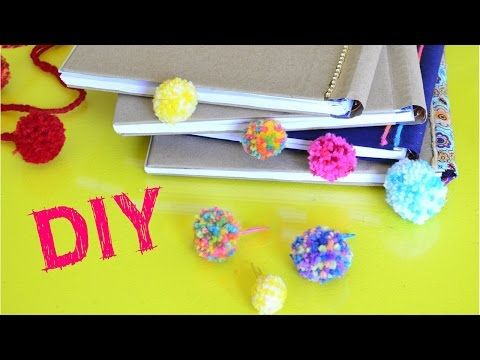 You Tube Video: Make Mini Pom Pom Bookmarks and Paperclips