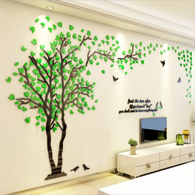 3d Wall Sticker Decals Bangcool Removable Flowering Plant Wall Stickers Art Wall Decor For Living Room Bedroom Bathroom Restaurant Girls Kids Walmart Com In 2021 Floral Wall Decals Wall Stickers Living