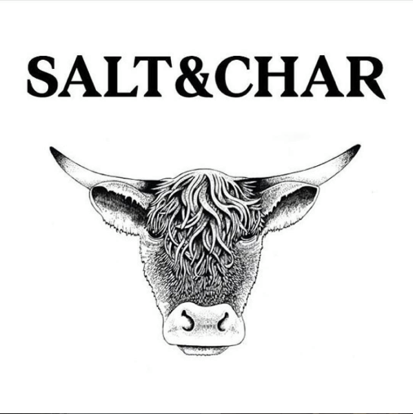 Branding Of Salt Char Including Naming Logo And Menu Design By De Mo Char Steak And Seafood Cap Steak