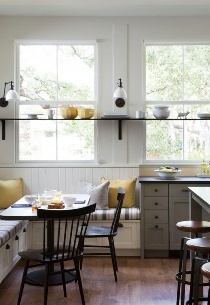 100 unikale ideen f r sitzecke in der k che landhausstil weiss und k cheneinrichtung. Black Bedroom Furniture Sets. Home Design Ideas