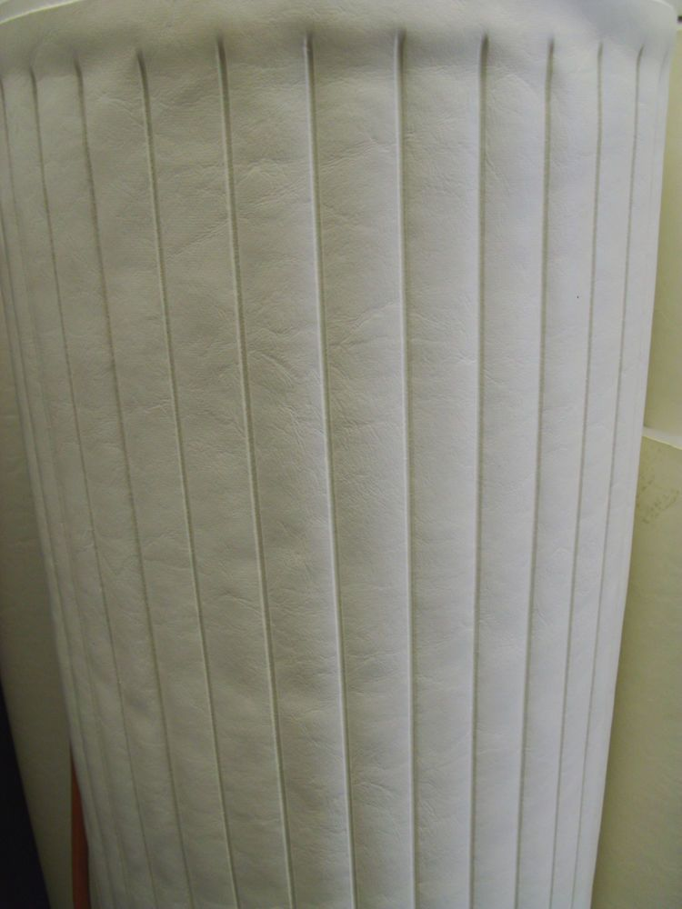 White Marine Vinyl Supplies Replacement Boat Seating Pleats Piping