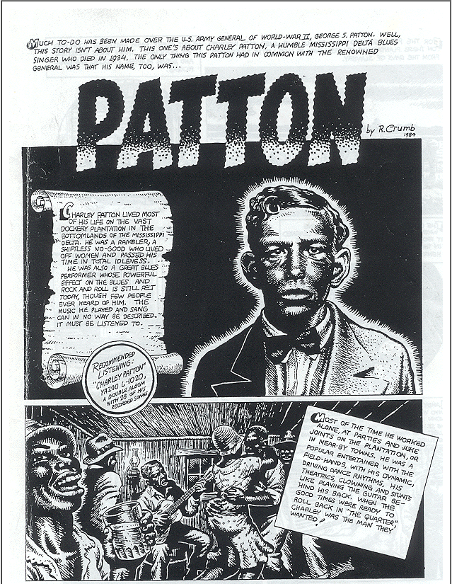 ..._Charley Patton by R. Crumb 1984