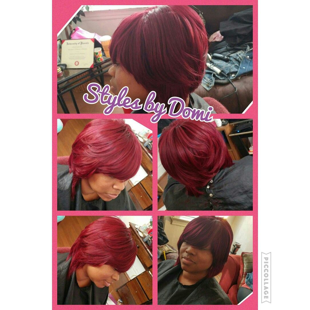 Stylesbydomi Bob Boblife Bobaction Quick Weave Red Hair Stl