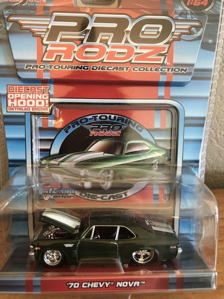 Details About 1 64 Maisto Pro Rodz 70 Chevy Nova Dark Green With