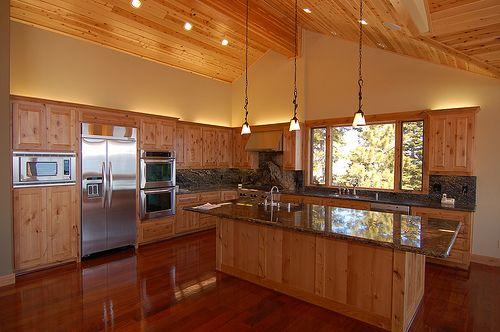 Alder Cabinets with Brazilian Cherry floor. I love the ...