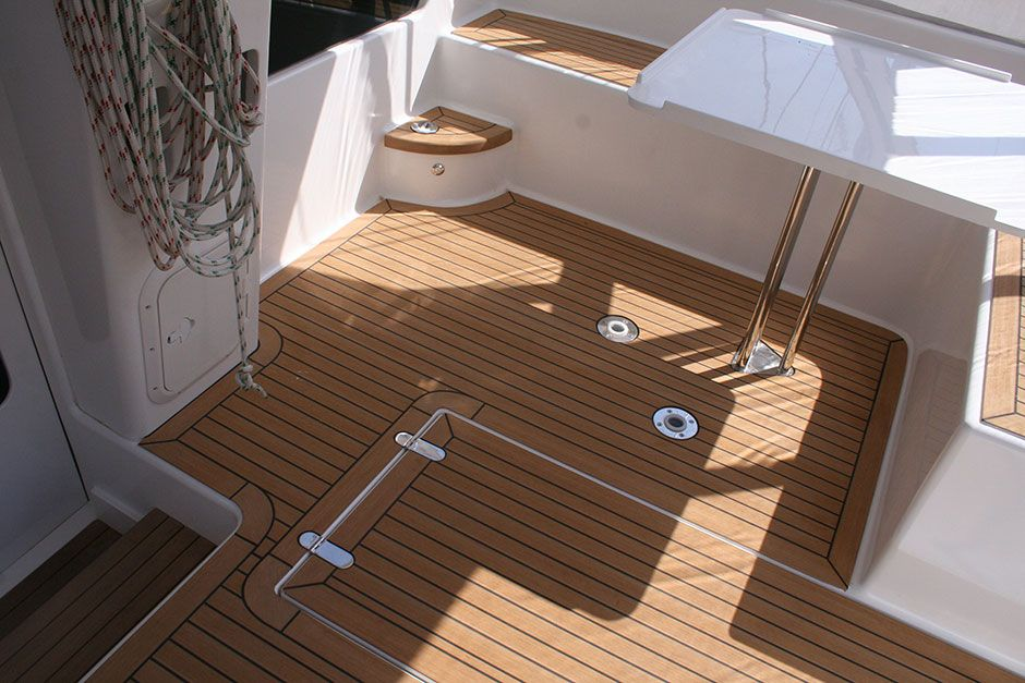 Plastic Wood Boat Flooring Material Supplier Anti Skid Boat