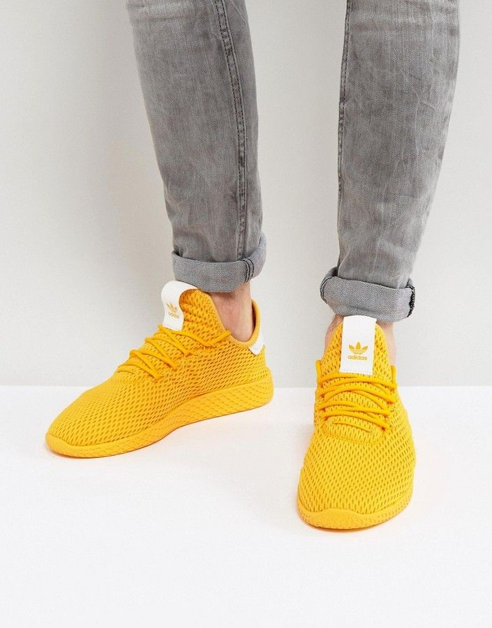 new concept 4c36b f7c45 adidas Originals x Pharrell Williams Tennis HU Sneakers In Yellow  men   fashion  male  style  menfashion  menwear  menstyle  clothes  man  ad