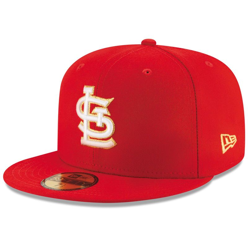 reputable site f9d6c 17933 St. Louis Cardinals New Era Finest 59FIFTY Fitted Hat - Red
